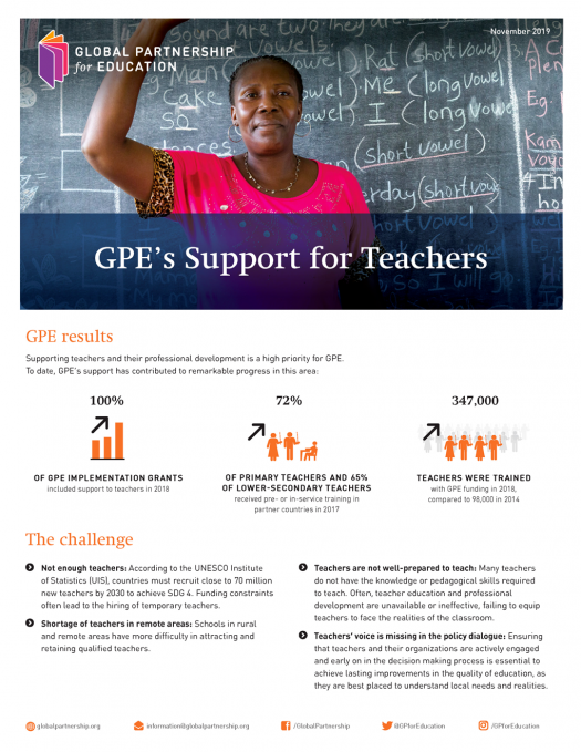 GPE's support for teachers