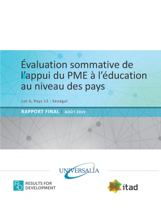 evaluation sommative appui pme leducation au senegal