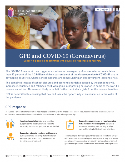 Factsheet: GPE and COVID-19 (coronavirus)