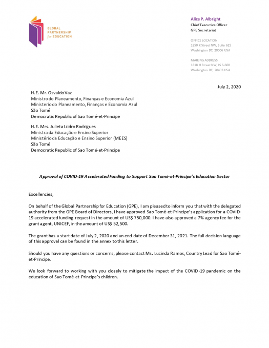 Letter Of Support For Funding from www.globalpartnership.org