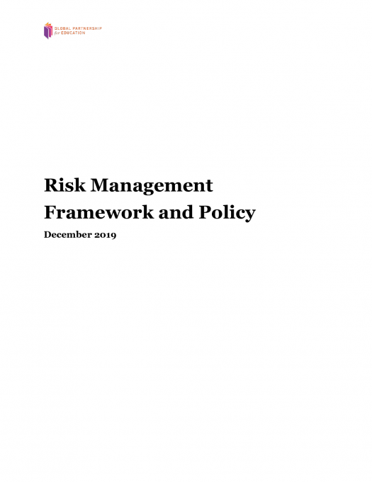 Risk Management and Framework Policy