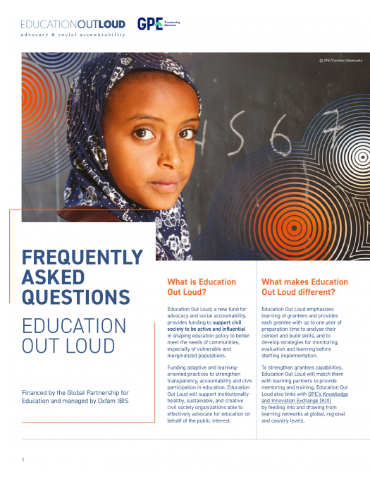 Frequently asked questions. Education Out Loud