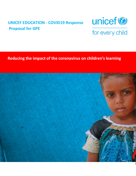 Unicef Proposal On Covid 19 Response Documents Global Partnership For Education