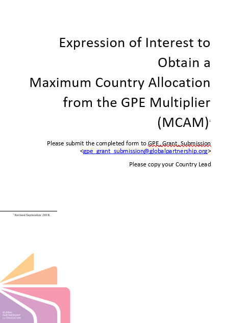 Form for Expression of interest for GPE Multiplier