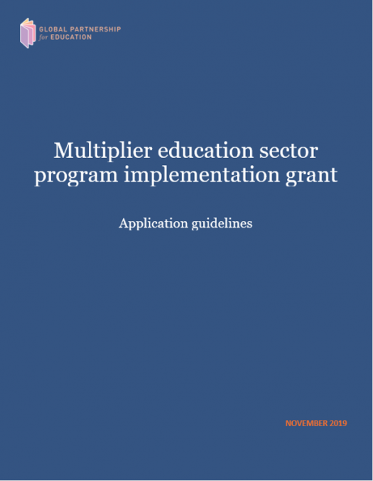 Guidelines to access the GPE Multiplier