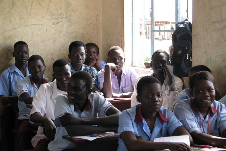 Students from a government school on the outskirts of Juba. South Sudan. May 2013.