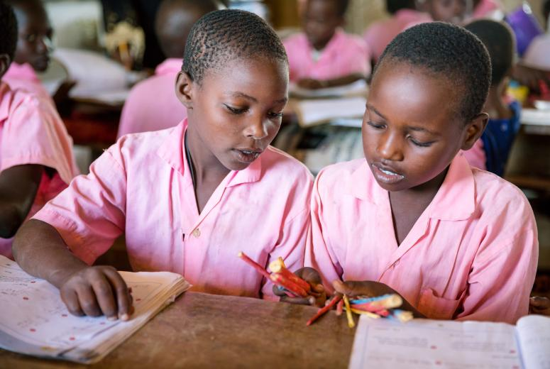 School girls in Kenya.