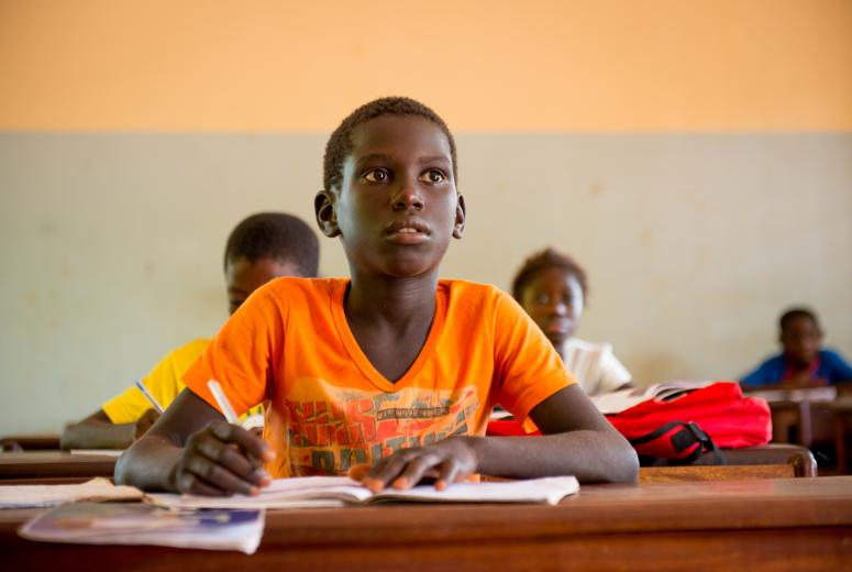 Fourth grade student at the Bissalanca Primary School. Guinea Bissau