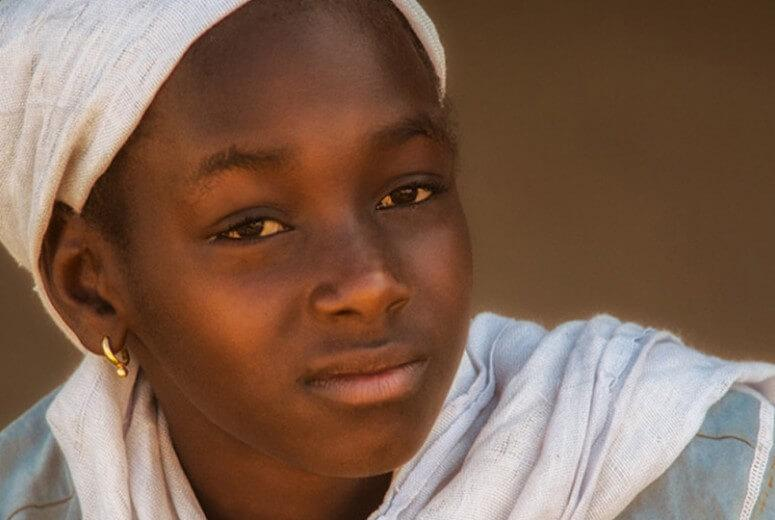 A girl in The Gambia.