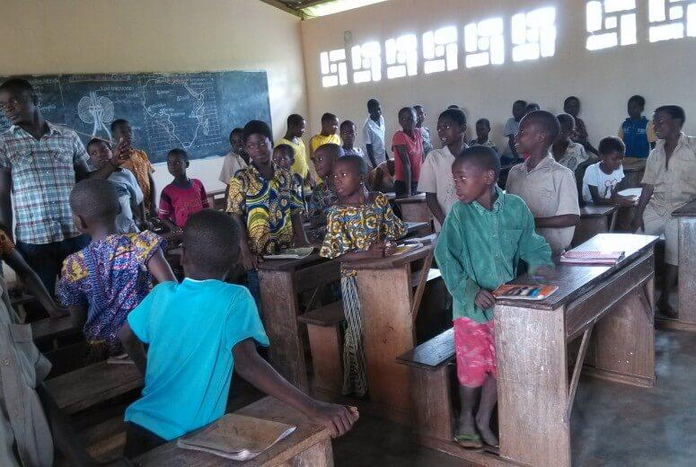 A classroom in Togo