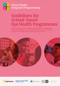 Guidelines for school-based eye health programs