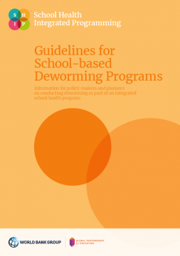 Guidelines for school-based deworming programs