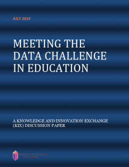 Meeting the data challenge in education. A knowledge and innovation exchange (KIX) discussion paper