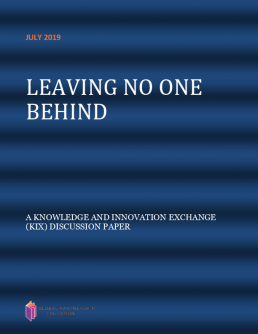 Leaving no one behind. A knowledge and innovation exchange (KIX) discussion paper