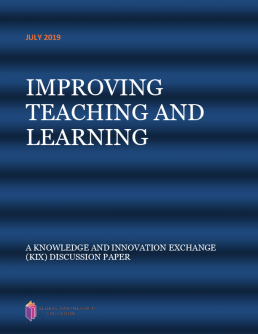Improving teaching and learning. A knowledge and innovation exchange (KIX) discussion paper