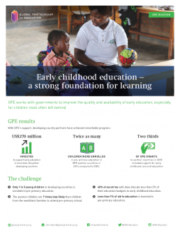 Factsheet: Early childhood care and education