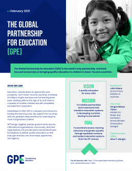 Factsheet: The Global Partnership for Education