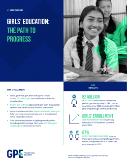 Factsheet. Girls' education: The path to progress