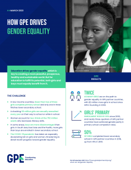 Factsheet: how GPE drives gender equality