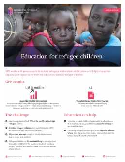 Factsheet: Education for refugee children