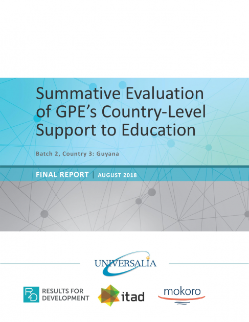 Summative evaluation of GPE's country-level support to ...