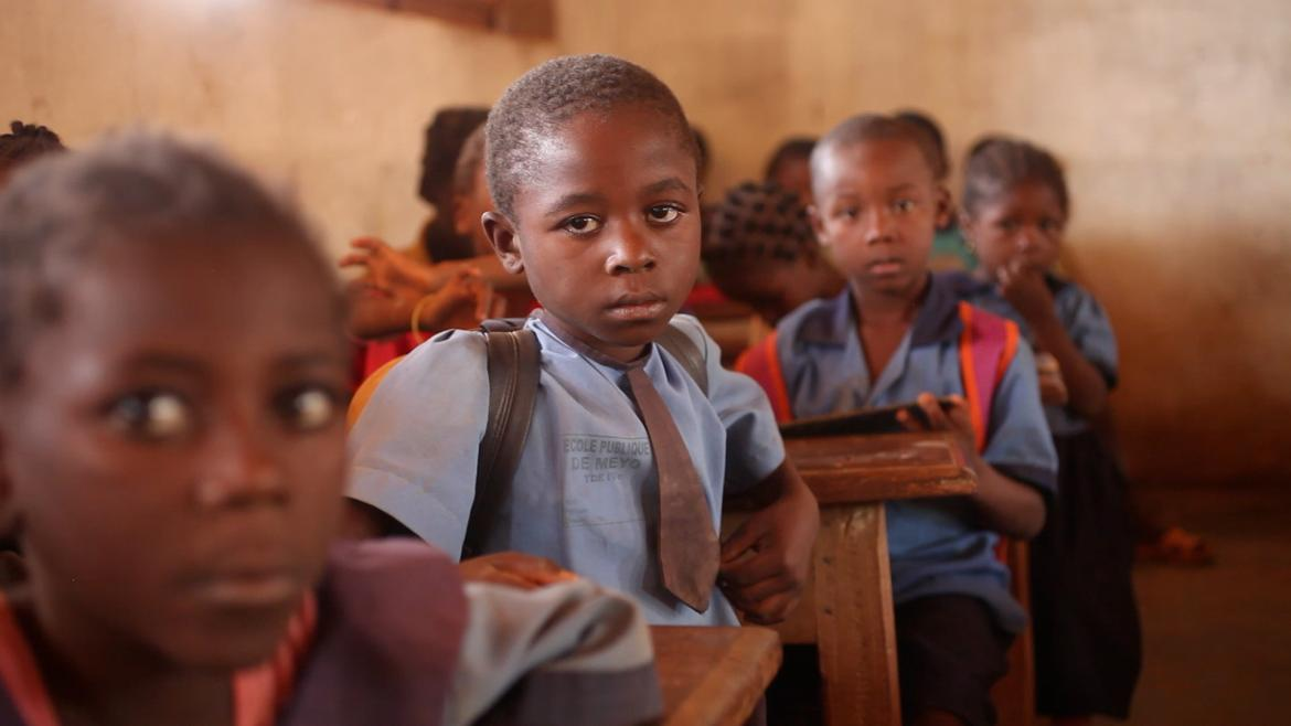 A primary school in Cameroon. Credit: GPE/Stephan Bachenheimer