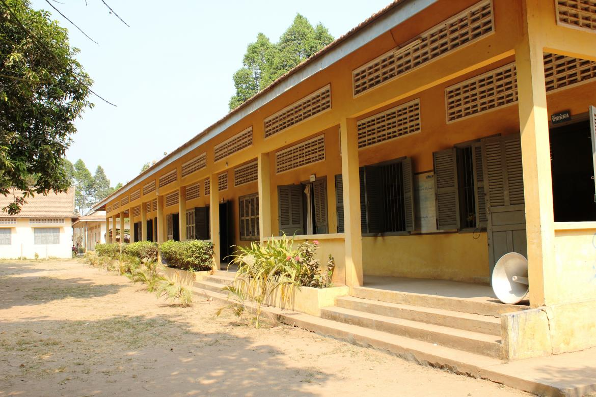 A school building at the Wat Khong Lower Secondary School. Cambodia.