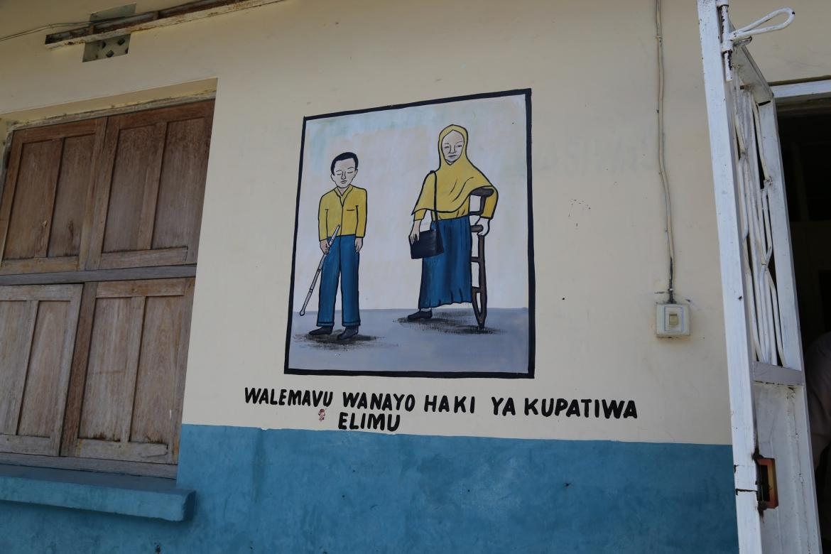 A painting on Kisiwandui Primary School's wall in Zanzibar. Credit: GPE/Chantal Rigaud