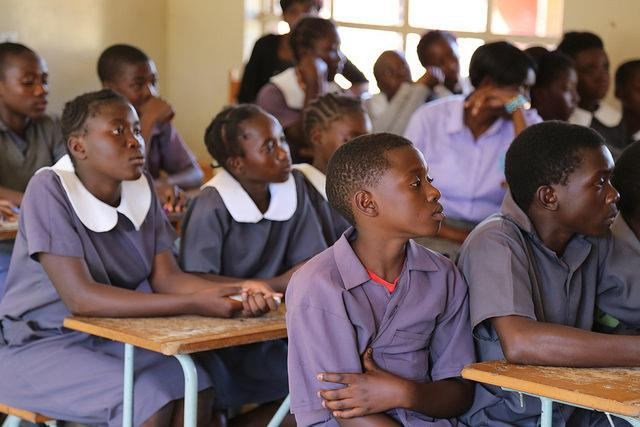 Students in class at the Monze Primary School, Zambia. May 2017. Credit: GPE/Alexandra Humme