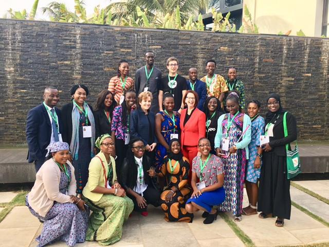 Leaders and youth advocates gathered for a youth education advocates workshop. The workshop, which was supported by Plan International, took place in Dakar on Wednesday, January 31st, 2018. CREDIT: GPE/Sirtaj Kaur