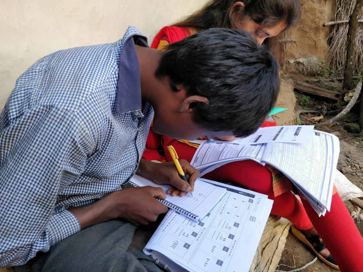 A student in India is being assessed.