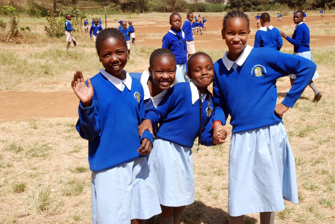 Students from Langata West Primary School in Nairobi, Kenya. February 2015.