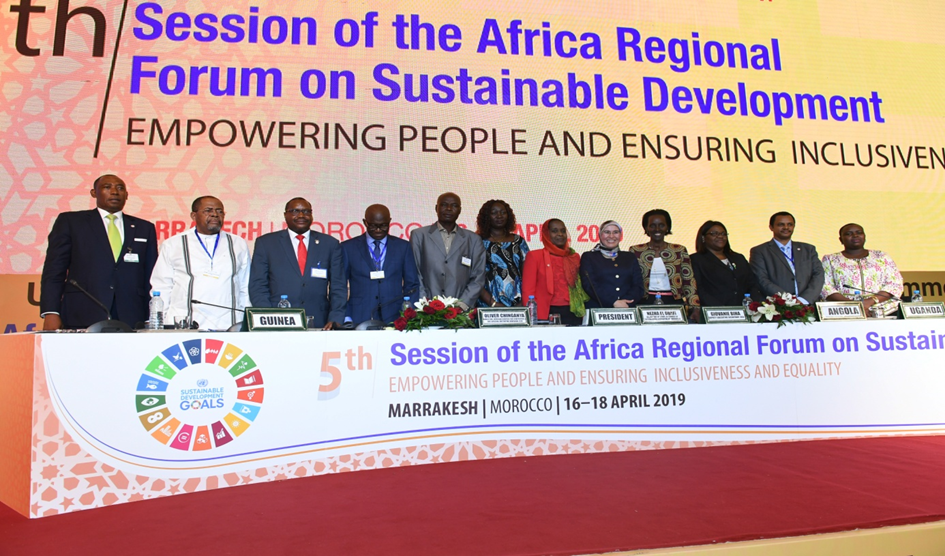 Participants of the 5th Session of the Africa Regional Forum on Sustainable Development (ARFSD) held in Marrakech, late April. Credit: ARFSD