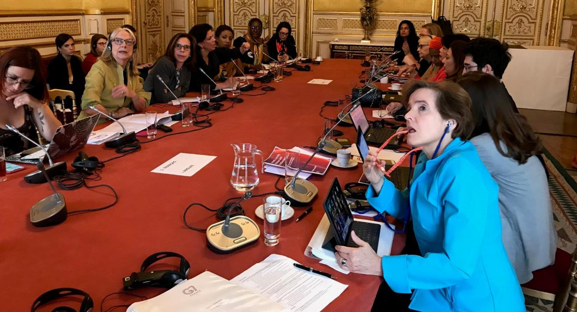 Alice Albright during the meeting of the G7 Gender Equality Advisory Council