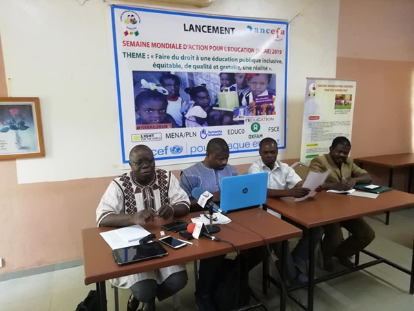 Press conference in Burkina Faso: Image Coalition Nationale pour l'Education Pour Tous du Burkina Faso - Cn-Ept/bf
