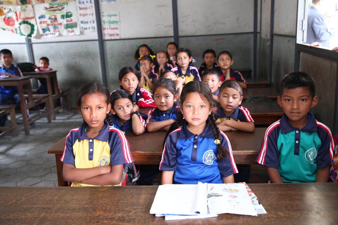 A primary classroom in Kathmandu, Nepal