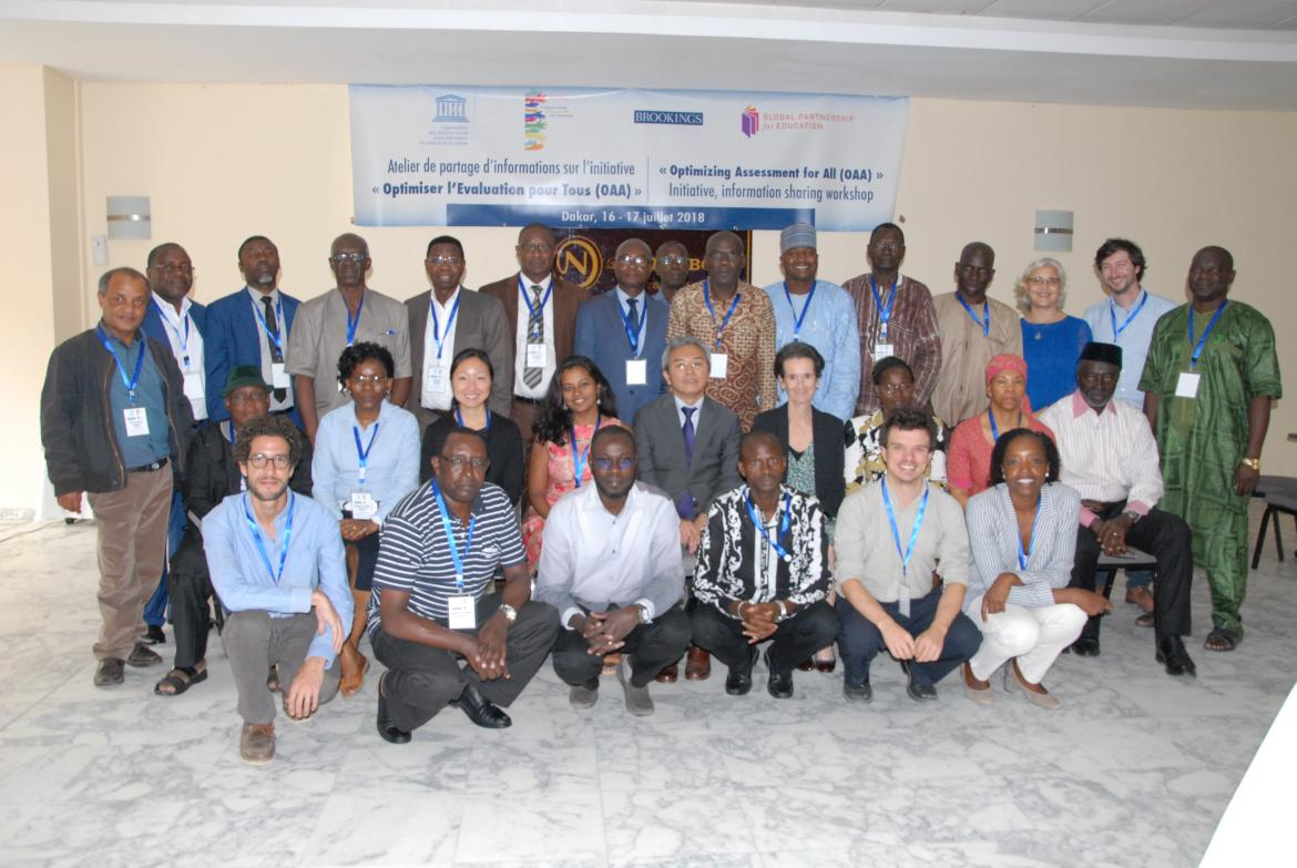"Participants at the ""Optimizing assessment for all"" workshop in Dakar in July 2018"