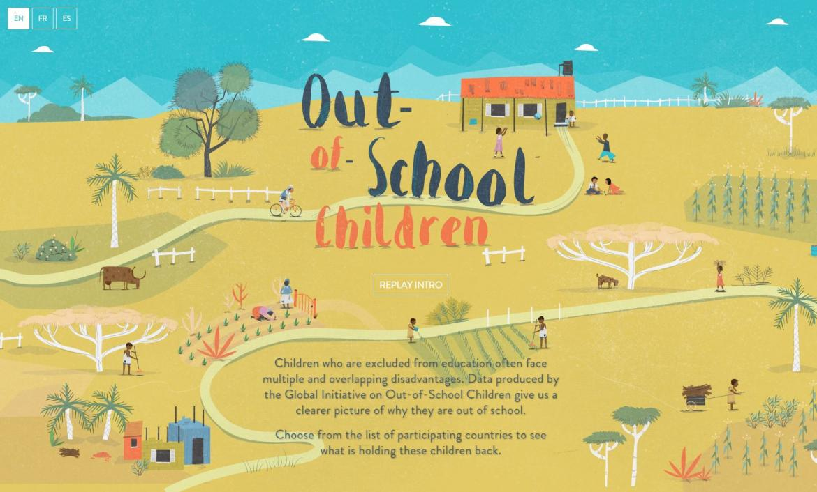 data tool on out-of-school children by UNESCO/UNICEF