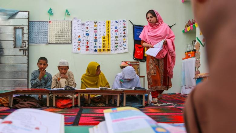 Aasiya is the head teacher of a relatively new two-room government primary school in Ziarat Badazai, a small village in District Pishin of Balochistan. Credit: World Bank