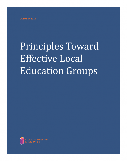 Principles toward effective local education groups