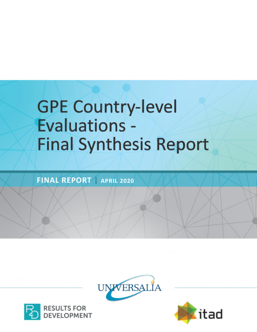 GPE Country-level evaluations. Final synthesis report