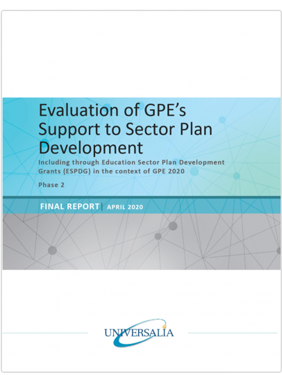 Evaluation of GPE's support to sector plan development – Final report