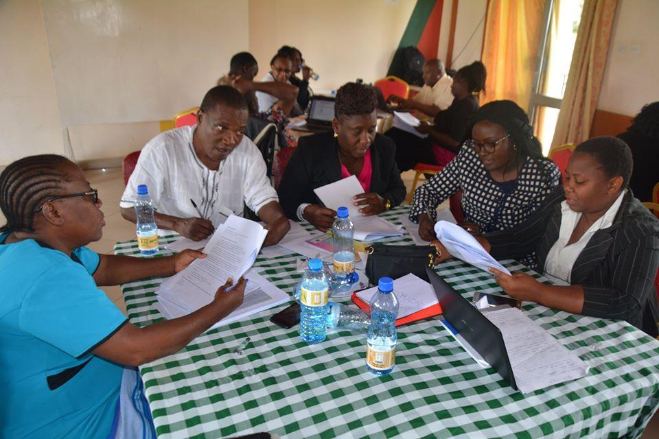 Panelists in a working group developing course materials in their local language during a workshop in Naivasha organized by KICD. Credit: KICD.