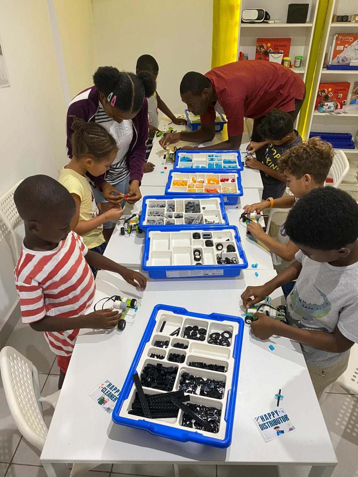 A coding and robotics class at Happy Coders Academy in Abidjan, Cote d'Ivoire. 2019.