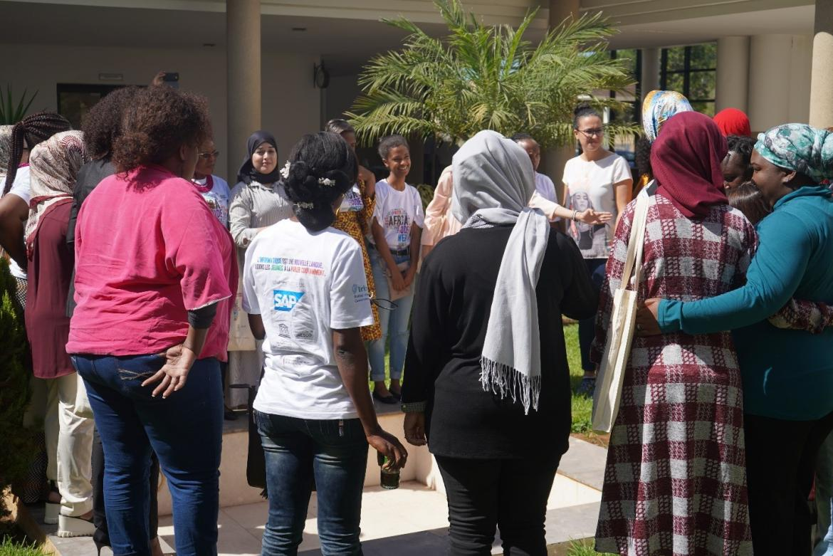 October 2019 - 28 female teachers from 15 African countries gathered at the Moroccan Ministry of Education to attend the first Africa Code Week deep-learning workshop and explore ways to empower more girls through coding skills across the continent.