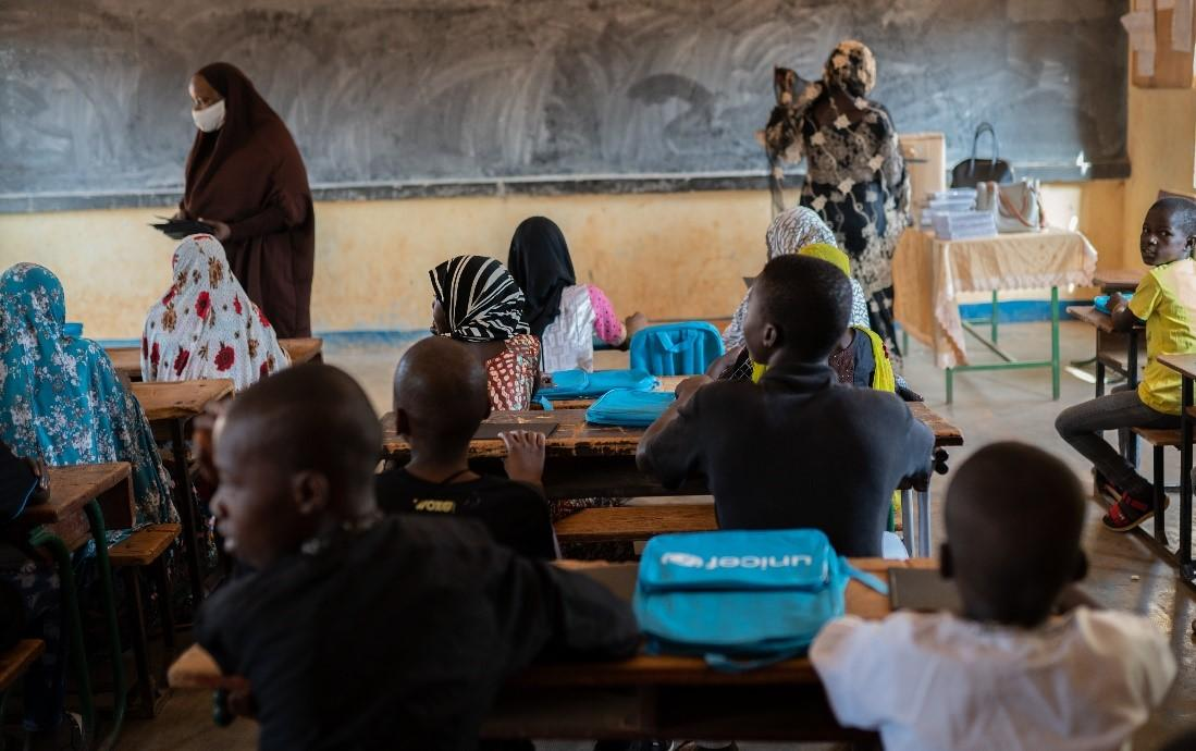 Students in their classroom during a lesson. Credit: UNICEF/Niger