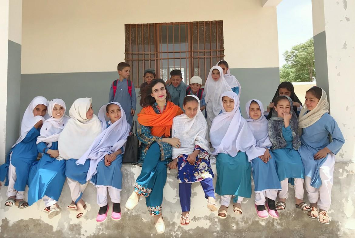 Sarwat Batool visits a school in Balochistan. CREDIT: World Bank/Sarwat Batool