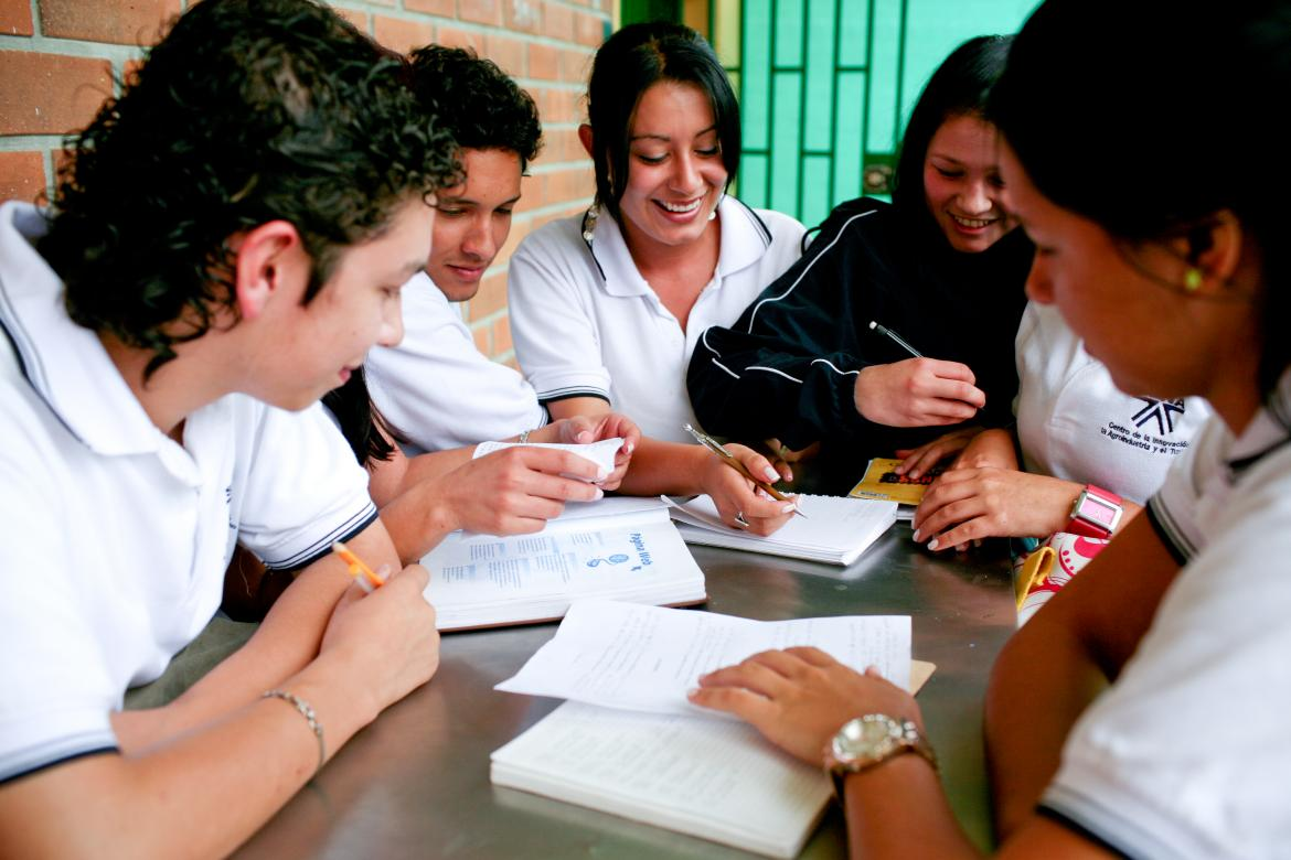 Students in a technical education program supported by the World Bank in Antioquia, Colombia.