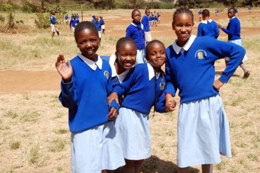 Image: Students from Langata West Primary School in Nairobi, Kenya. February 2015.