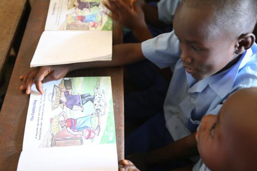 Image: Students in class at the KDEC Pre-Primary School Masorie. Sierra Leone, January 2019. Credit: GPE/Ludovica Pellicioli